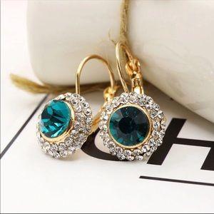 Crystal Silvery Graceful Drop Earrings